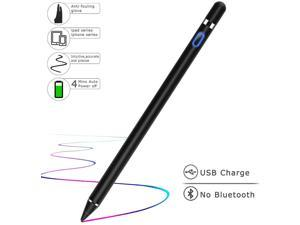 Stylus Pens for Touch Screens Fine Point Active Stylus Pen Rechargeable Compatible with Ipad iPhone Android and Tablet Capacitive Stylus for Writing Drawing
