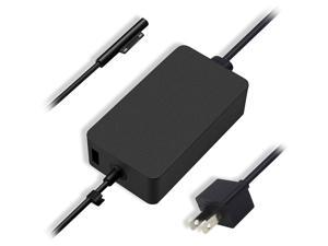 15V 2.58A 44W Charger for Micro-soft Surface Laptop Surface Pro X Pro 7 Pro 6 Pro 5 Pro 4 Surface Pro 3 Surface Go Book AC Adapter 1800 Power Supply Cord with 5V USB Charging Port and Power Cord