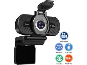 Letova 1080P Webcam with Microphone & Privacy Cover, Web Cam USB Camera, Computer HD Streaming Webcam for PC Desktop & Laptop w/Mic, Wide Angle Lens cheaper then logitech c920 c920s c615 c525 c922x