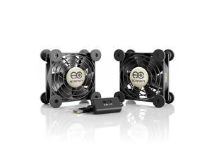 MULTIFAN S5, Quiet Dual 80mm USB Cooling Fan for Receiver DVR Computer Cabinets