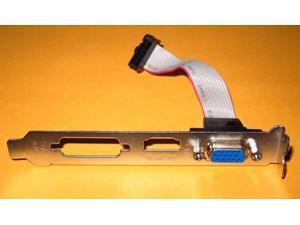 MSI Video Graphics VGA CRT D/SUB Full Height Size Length Expansion Slot Bracket