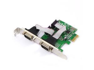 High Speed 2 Port RS-232 RS232 Serial Port COM to PCI-E PCI Express Card NEW