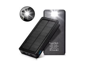 External Battery Power Bank 4 Port USB Solar Charger High Capacity Waterproof
