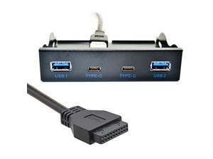 3.5 Inch USB-C USB 3.0 HUB 4 Ports Front Panel Floppy Bay Internal 20Pin Bracket