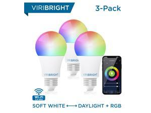Deals on 3 Pack Viribright E26 Smart LED Light Bulb