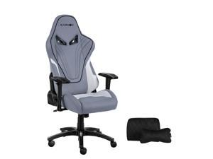 KARNOX Hero BA New Racing Style Gaming Office Chair with Adjustable Height and Armrests 155°Reclining with Headrest and Lumbar Support(grey) …