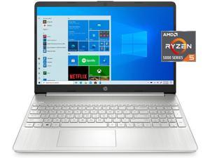 HP 15.6 inch Full HD Custmized Laptop for Business and Student | AMD 6-Cores Ryzen 5-5500 (Beat i5-10500) | HP Fast Charge | Webcam | 16GB DDR4 RAM 256GB  SSD | Micro-edge | Windows 10 Home | Silver