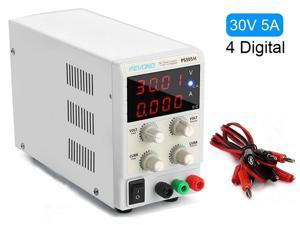 DC Bench Power Supply, Pevono PS305H 30V/5A 4 Digital LED Desktop Switching Variable Power Supply Voltage&Current Regulated Supply Power Source For Lab Repair,Electronic Tester