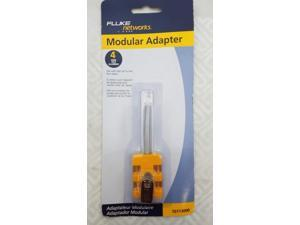 FLUKE NETWORKS 10113000 MODULAR ADAPTER , BANJO 4 WIRE, NEW IN BLISTER PACK !