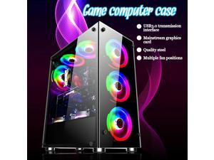 Gaming Computer PC Case For ATX/M-ATX/ITX Desktop Mainframe ATX HD Audio 8 Fan