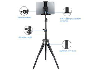 Foldable Height Adjustable Floor Tablet Tripod Stand Mount For iPad Cell Phone