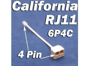 RJ11 Jack 2 Way Outlet Telephone Phone Modular Line Splitter Plug Adapter 6P4C