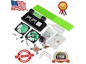 DIY PC Water Cooling Kit 240mm Radiator Pump Reservoir CPU Block Rigid Tubes
