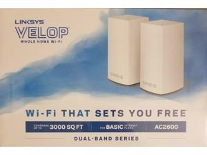 NEW - LINKSYS VELOP WHOLE HOME WIFI DUAL BAND MESH AC2600 (WHW0102)
