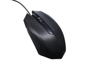 3-Button USB Optical Wired Mouse with 1.1M Cord Compatible with Windows 7/8/10/XP MacOS