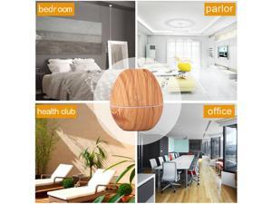 Air Humidifier Desk Yoga Spa Living Room Oil Diffuser Olive Shape Cool Colorful LED Diffuser Light for Office Home