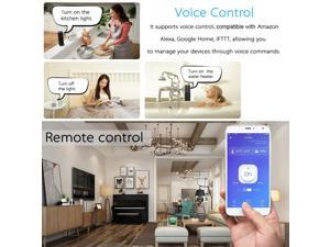 Wireless APP Remote Control Power Outlet Smart Thermostat Humidistat Timing Plug Socket Compatible with Amazon Alexa Echo Google Nest Home AC90-250V 16A EU Plug