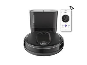 Shark IQ Robot® Vacuum with Self Empty Base, Bagless, Self Cleaning Brushroll, Advanced Navigation, Home Mapping, Powerful Suction, Perfect for Pet Hair, Wi Fi (RV1000S) R100S