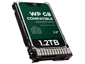 WP 1.2 TB 10K RPM 512n SAS 12Gb/s 2.5-Inch HDD for HP Proliant Servers   Enterprise Hard Drive in G8 G9 Tray Compatible with 872479-B21 781518-B21 EG1200JEHMC 872737-001