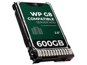 WP 600 GB 10K RPM 512n SAS 6Gb/s 2.5-Inch HDD for HP ProLiant Servers | Enterprise Hard Drive in G8 G9 Tray Compatible with 653957-001 652583-B21 507129-014 EG0600FBDSR EG0600FBVFP EG0600FCHHU