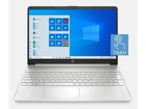 "2020 HP 15.6"" HD Touchscreen Premium Laptop PC, 10th Gen Intel Dual-Core i3-1005G1 upto 3.4GHz, 12GB RAM, 128GB SSD, USB-C, HDMI, Windows 10 Home, Silver"