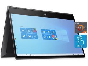 "2021 HP Envy X360 15.6"" FHD IPS Touchscreen Premium 2-in-1 Laptop, AMD Ryzen 5 4500U (beat i7-10710U), 32GB RAM, 1TB PCIe SSD, Backlit Keyboard, Fingerprint Reader, Windows 10 Home, Nightfall Black"
