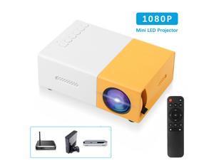 YG300 Portable Mini LED Projector HD 1080P Home Theater Cinema USB HDMI AV SD