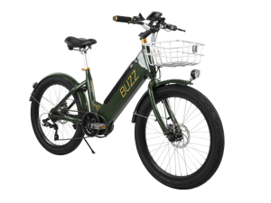 Buzz Electric Bike for Adults - 36V Pedal-Assist Mid-Drive E-Bike - Green