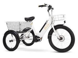 Buzz Electric Tricycle for Adults - 36V Pedal Assist - White