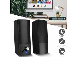 Stereo Bass Surround Sound USB Computer Speakers 2.0 Channel for Laptop Desktop