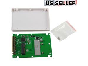 """mSATA to 2.5"""" PATA / IDE SSD Enclosure Adapter Case 9.5mm Solid State Drive"""