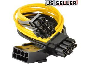 5-pack PCI-E 8-pin to 2x 6+2-pin Power Splitter Cable PCIE PCI Express 5X