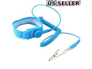5X Anti-Stc Wrist Strap ESD Grounding Discharge Band Clip On Adjustable Cord