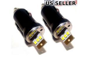 """2-Pack LED Console Interior Car Light 12V Automotive """"Cigarette Lighter"""" Socket"""