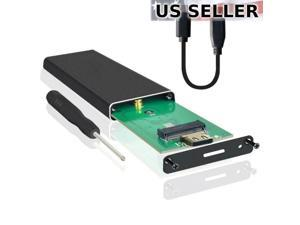 M.2 NGFF SATA SSD to USB 3.1 Type C External Drive Enclosure Case with UASP