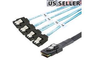 Mini SAS to 4-SATA SFF-8087 Multi-Lane Forward Breakout Internal Cable 50CM