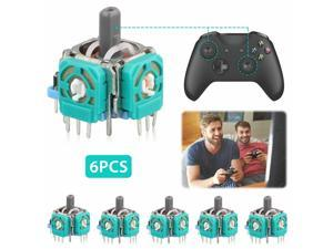 6-pack Replacement Analog Stick Joystick for PS4 Dualshock 4 XBox One Controller
