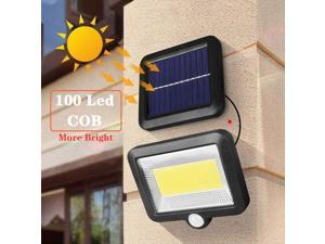 100 LED COB Solar Wall Light PIR Motion Sensor Outdoor Path Yard IP65 Waterproof Lamp Security Night Lighting for Garden
