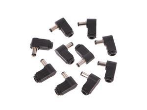 10 Pcs 3.5x1.3mm Male Right Angle DC In-Line Plug Socket Jack Connector Adapter
