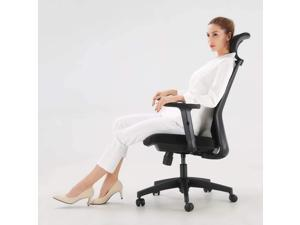 SIHOO Ergonomic Office Chair with Adjustable Lumbar Support and Armrests,Breathable Mesh Back and Padded Seat Desk Chair, Computer Chair for Work