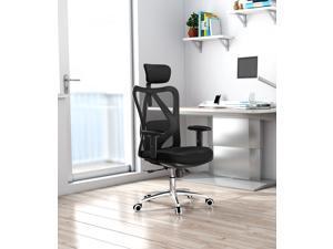 SIHOO M18-014 Mesh Ergonomic Office Chair Gamming Chair Desk Chair, Adjustable Headrests Chair Backrest and Armrest (Black)