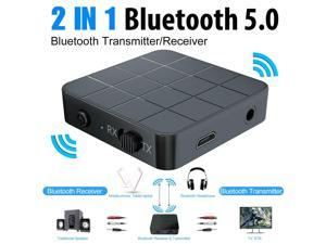 2-in-1 Bluetooth 5.0 Wireless Audio Aux 3.5mm Adapter Transmitter and Receiver