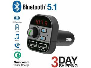 Bluetooth In-Car Wireless FM Transmitter MP3 Radio Adapter Car Kit Charge 2 USB