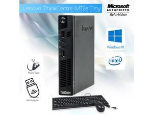Grade A- Lenovo Thinkcentre M72 Tiny Desktop Core i3 3rd Gen 3220T @ 2.80 Ghz 16GB 256GB SSD Windows 10 Home 64 Bit Free WiFi Adapter