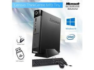 Grade A- Lenovo Thinkcentre M73 Tiny Desktop PC Core i5 4th Gen 4570T @ 2.90 Ghz (Upto 3.60 Ghz) 8GB Memory 500GB HDD USB 3.0 Windows 10 Home 64 Bit Free WiFi Adapter