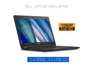 """Grade A - Dell Latitude E7470 14"""" Screen Laptop FHD (1920x1080) , Core i7 6th Gen 6600U @ 2.60Ghz ( Upto 3.40 Ghz) 16GB DDR4 Memory 256GB SSD HDMI / USB 3.0 / Mini Display Port Win 10 Home - 64 Bit"""