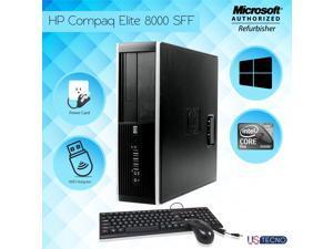 Best home use Desktop PC  HP Elite 8000 sff Intel Core 2 Duo 3.0GHz  Windows 10 Pro PC Computer