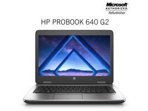 "HP ProBook 640 G2 14"" Screen Laptop Core i5 6th Gen 6200U @2.30 Ghz (Upto 2.80 Ghz) 8GB DDR4 Memory 256GB SSD USB 3.0 Windows 10 Professional- 64 Bit"