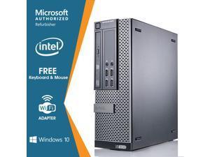 Dell OptiPlex 9020 SFF Desktop PC Computer Intel Core i5 4570 8GB RAM 256GB SSD DVD Windows 10 Professional New Free keyboard,mouse,powercord,WiFi-Adapter