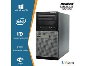 Dell Optiplex 7010 Tower Desktop Intel Core i5 3470 16GB New 256GB SSD+500GB DVD Windows 10 Professional New Free Keyboard, Mouse,Power cord,WiFi Adapter